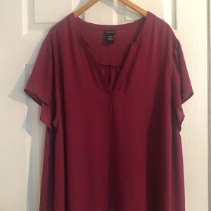 Plus size flowing tunic
